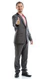 Full length suit tie businessman Stock Images