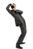 Full length suit tie photographer with camera Stock Photos