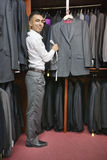 Full-length of tailor working at tailor shop Royalty Free Stock Images