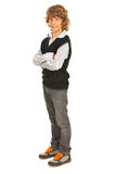 Full  length of teen blond boy Royalty Free Stock Photos