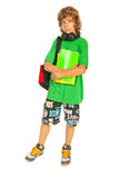 Full length of teen schoolboy Royalty Free Stock Images