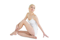Full length of a thoughtful toned woman Royalty Free Stock Photos