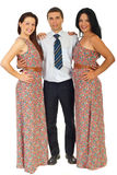 Full length of three fashion models Stock Image