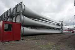 Full length of turbine blades Royalty Free Stock Image