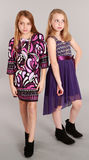 Full length of two little blonde girls Royalty Free Stock Photography