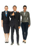 Full length of united business people Stock Image