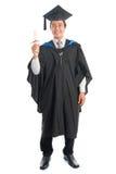Full length university student graduation portrait Royalty Free Stock Image