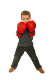 Full length of upset boxer child boy Stock Photography