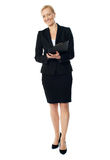 Full length view of an aged female executive Royalty Free Stock Photo