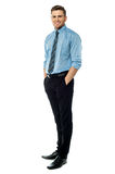 Full length view of a business executive Royalty Free Stock Image