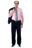 Full length view of business professional standing Stock Photography