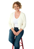 Full length view of seated senior woman Royalty Free Stock Photo