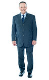 Full length view of senior corporate male Stock Photos