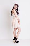Full length Vogue style girl posing in studio Stock Photos