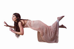 Full length of woman levitating Stock Photography