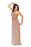 Full length of woman in long summer dress Stock Image