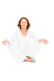 Full length of woman meditating Stock Photography