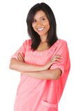 Full length woman posing with folded arms Royalty Free Stock Photography