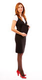 Full length woman with tablet pc Royalty Free Stock Image