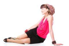 Full length woman in a turban  Stock Photo