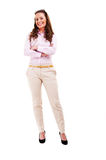Full length of young business woman Royalty Free Stock Photography