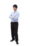 Full length of a young businessman smile Royalty Free Stock Image