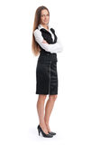 Full length of young businesswoman Royalty Free Stock Photos