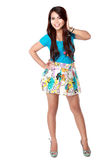 Full length of a young female model Royalty Free Stock Image
