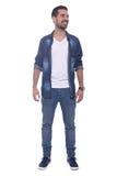 Full length of a young latin man. Stock Photo