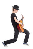 Full length of young man playing guitar Royalty Free Stock Photo