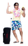 Full length of young man with travel bag Royalty Free Stock Image