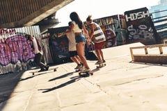 Skaters having fun. Royalty Free Stock Photography