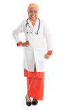 Full length young Muslim female doctor Royalty Free Stock Photo