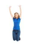 Full length young woman jumping Stock Photos