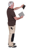 Full lengthshot of tiler Royalty Free Stock Photo