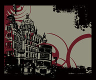 Full of life 601. Simple Illustration for london city  scene and historical background Stock Image