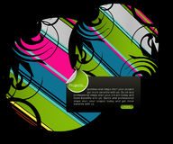 Full of life background. Colored graphic elements, Full of life art background Royalty Free Stock Images