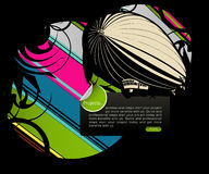 Full of life background. Colored graphic elements, Full of life art background Stock Images