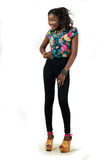 Full längdmodellflicka Royaltyfria Bilder