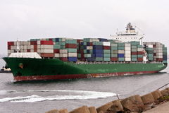 Full Load On Container Cargo Ship Royalty Free Stock Photo