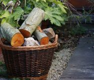Full log basket Royalty Free Stock Photography