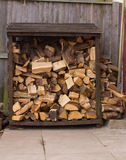 Full Log Store Royalty Free Stock Image