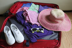 Full luggage for travelling. A full luggage for travelling Royalty Free Stock Photography