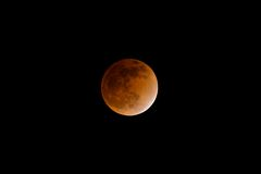 Full lunar eclipse. During winter solstice Royalty Free Stock Photography