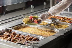 full lunch service station Stock Images