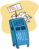 Full Mailbox Stock Photography