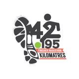 Full Marathon Finisher Design. Royalty Free Stock Images