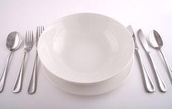 Full meal setting Stock Photos