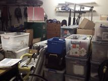 Full Messy Storage Shed royalty free stock image