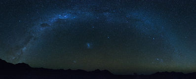 The full milkyway. In Namibia Stock Photography